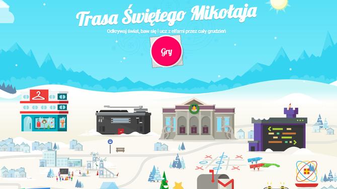 Wioska Świętego Mikołaja: interaktywne zabawy Google'a dla dzieci [1]