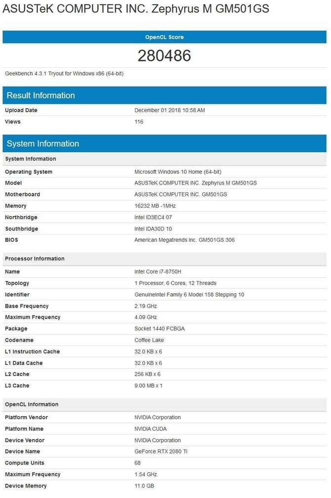 NVIDIA GeForce RTX 2080 Ti w laptopie ASUS Zephyrus M 2019? [2]