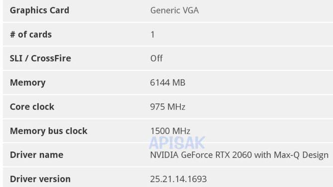 NVIDIA GeForce RTX 2060 Mobile otrzyma 6 GB pamięci GDDR6 [4]