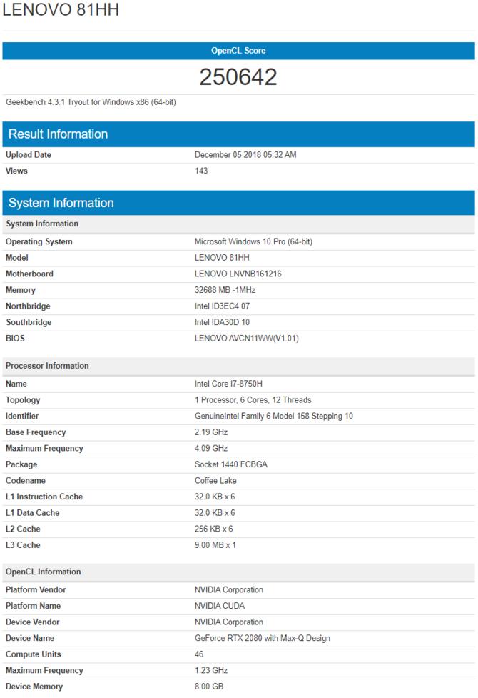 NVIDIA GeForce RTX 2060 Mobile otrzyma 6 GB pamięci GDDR6 [5]