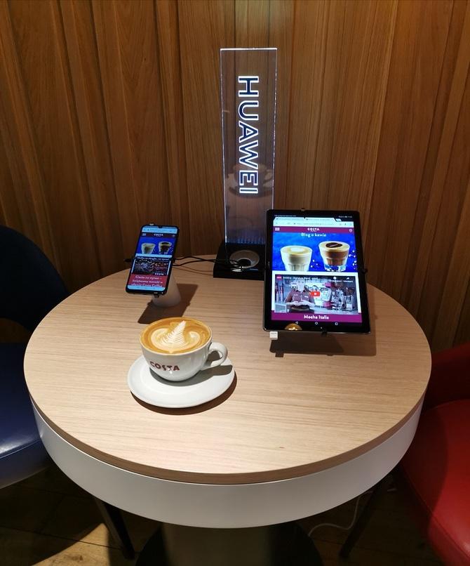 W kawiarniach Costa Coffee przetestujesz urządzenia Huawei [1]