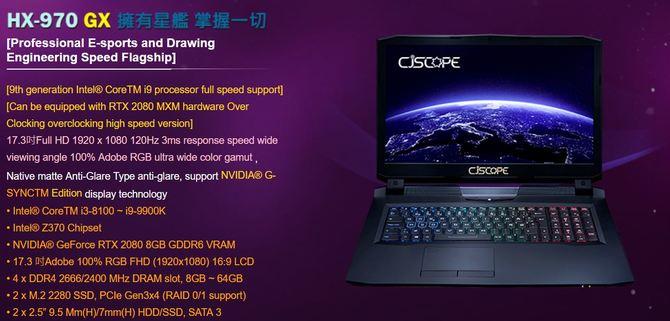 NVIDIA GeForce RTX 20x0 MXM - specyfikacja układów do laptopów [1]