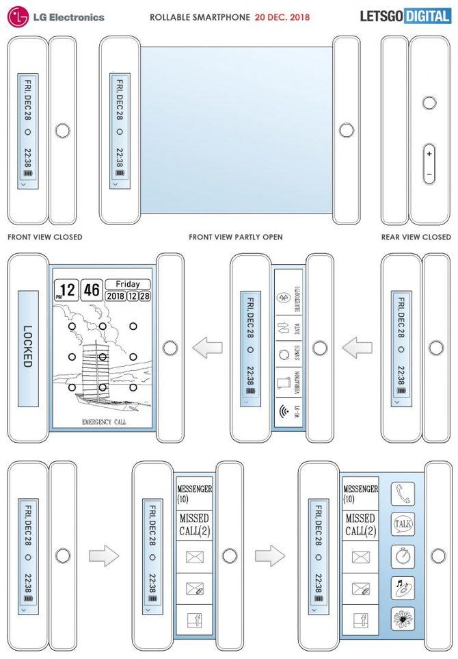 LG z patentem na innowacyjny telefon z rozwijanym ekranem [1]