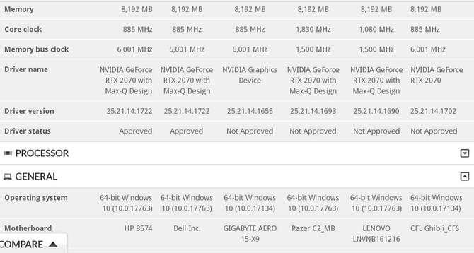 NVIDIA GeForce RTX 2070 Mobile (Max-Q) - pierwsze wyniki 3DMark [3]