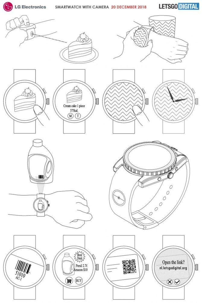 LG patentuje smartwatch z doczepianą inteligentną kamerą [3]