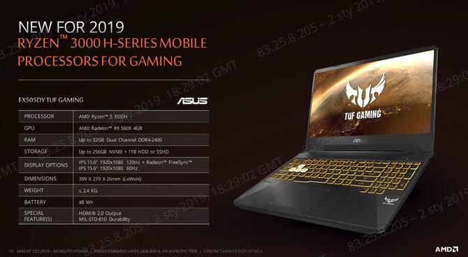 AMD Ryzen 5 3550H i Ryzen 7 3750H - nowe CPU dla notebooków [6]