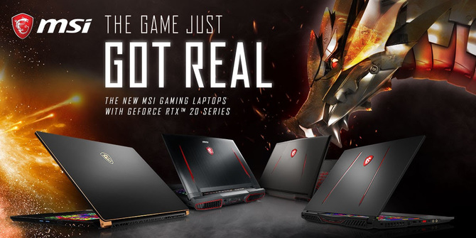 MSI prezentuje 8 notebooków z kartami NVIDIA GeForce RTX 20x0 [1]