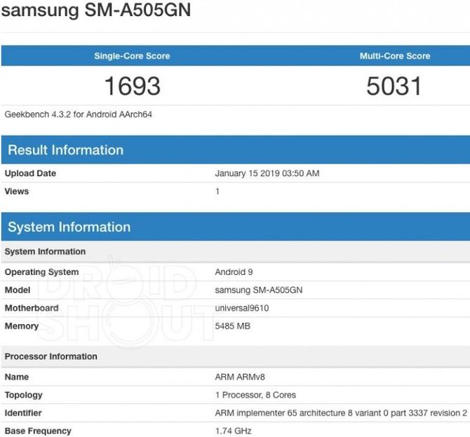 Samsung Galaxy A50 - nowy smartfon przetestowany w Geekbench [2]