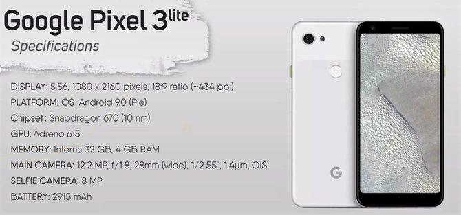 Google Pixel 3 Lite już zrecenzowany, a premiera dopiero wiosną [2]