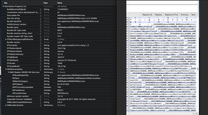 AMD Navi - wzmianki o GPU w kodzie aktualizacji MacOS Mojave [3]