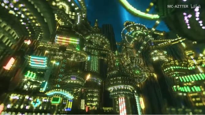 Cyberpunkowy świat zbudowany w Minecrafcie. To trzeba zobaczyć [1]
