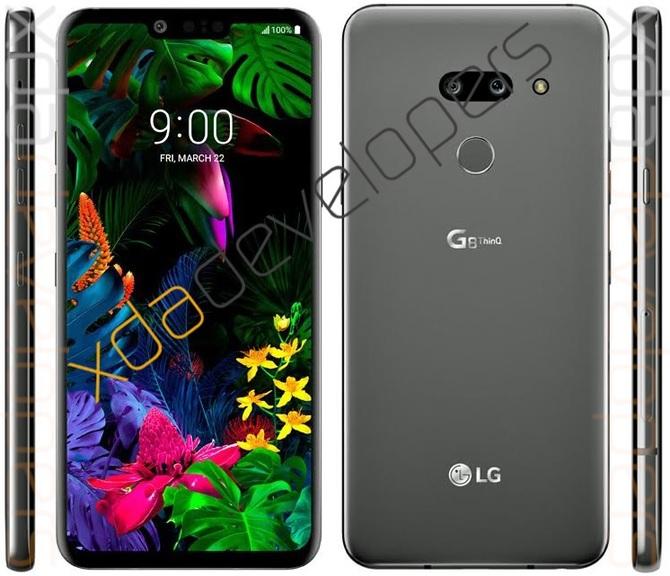 LG G8 ThinQ - nowe rendery. Smartfon naprawdę wygląda jak G7 [1]