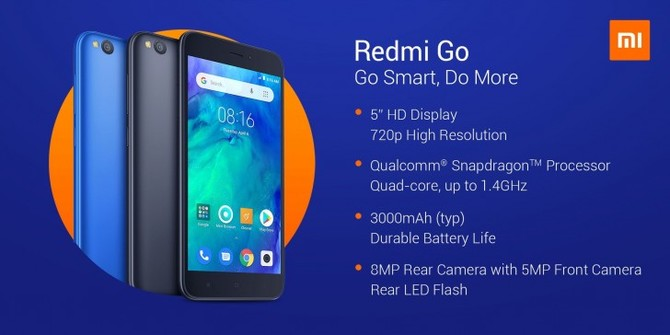 Xiaomi Redmi Go - debiutuje tani smartfon z Androidem Go [1]