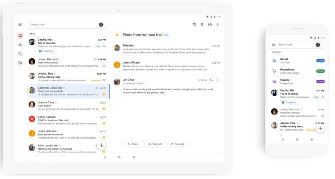 Aplikacja Gmail na smartfonach zmienia wygląd. Wdrażanie trwa [2]