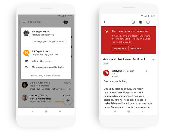 Aplikacja Gmail na smartfonach zmienia wygląd. Wdrażanie trwa [3]