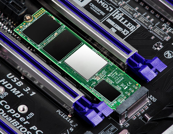 Transcend MTE220S – SSD PCIe NVMe z pamięciami 3D TLC NAND [1]