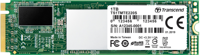 Transcend MTE220S – SSD PCIe NVMe z pamięciami 3D TLC NAND [2]