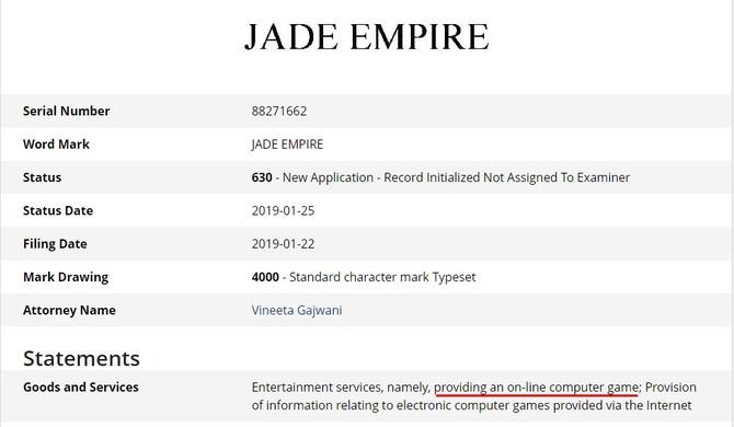 EA rejestruje markę Jade Empire - nowa gra z uniwersum w drodze? [2]