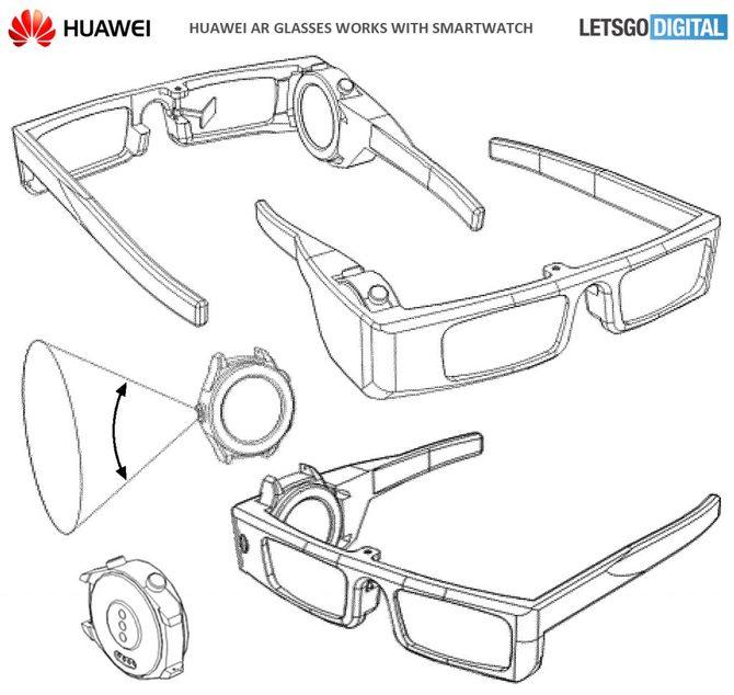 Huawei patentuje okulary AR pracujące w oparciu o smartwatch [3]
