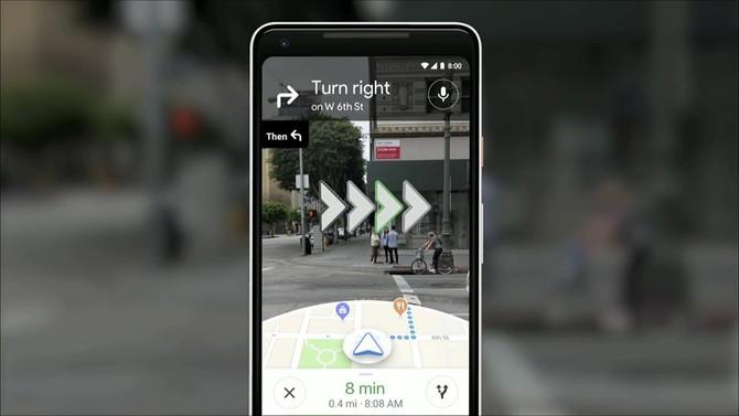 Google wykorzysta kamerę smartfona do dokładniejszej nawigacji [1]