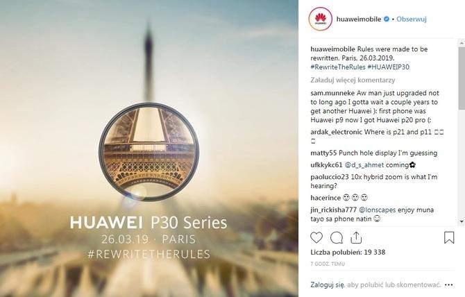 Huawei P30 i P30 Pro - Premiera nowych smartfonów już 26 marca [1]