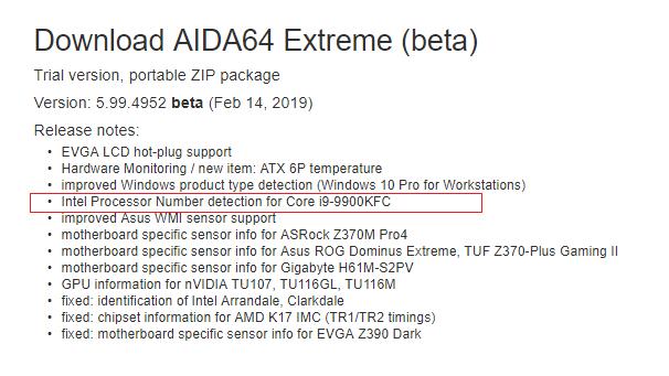 Intel Core i9-9900KFC - odkryto procesor z ciekawym oznaczeniem [3]