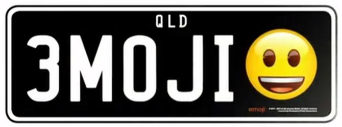 Emotikony na rejestracjach pojazdów dozwolone w Australii [2]