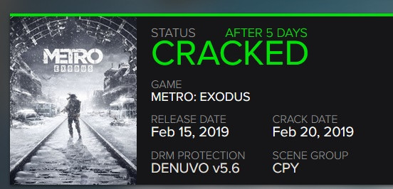 Metro Exodus - Denuvo 5.6 już złamane. Far Cry New Dawn czeka [2]