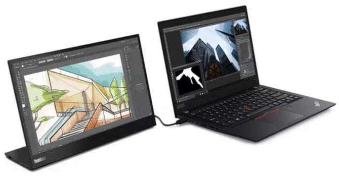 "MWC2019: Lenovo ThinkVision M14 - monitor FullHD 14"" z USB-C [2]"