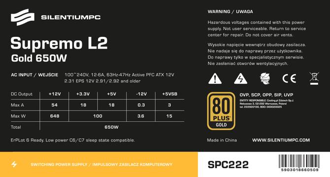 SilentiumPC Supremo L2 650 W - Tanie i mocne 80 Plus Gold [2]