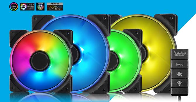 Fractal Design Prisma - Rodzina wentylatorów w kolorach tęczy [1]