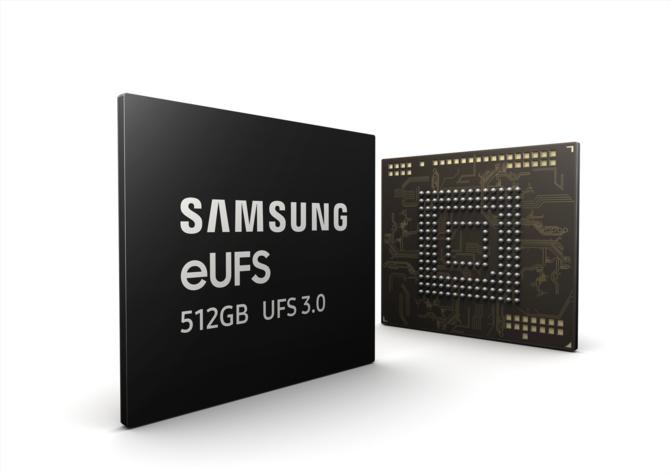 Samsung rozpoczyna masową produkcję pamięci 512 GB eUFS 3.0 [1]