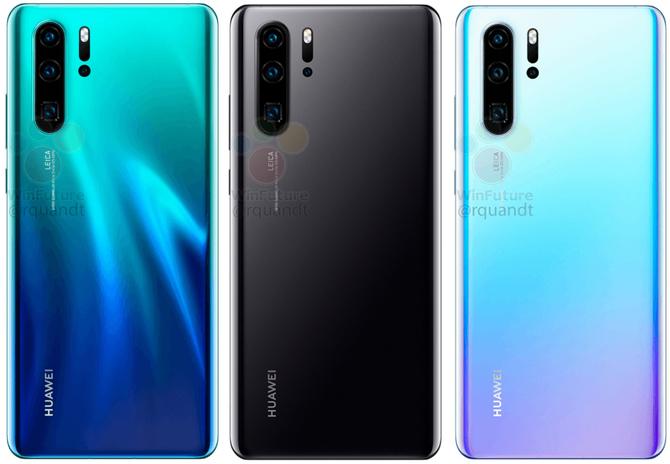 Huawei P30 Pro: pierwsze rendery i przecieki dotyczące specyfikacji [2]