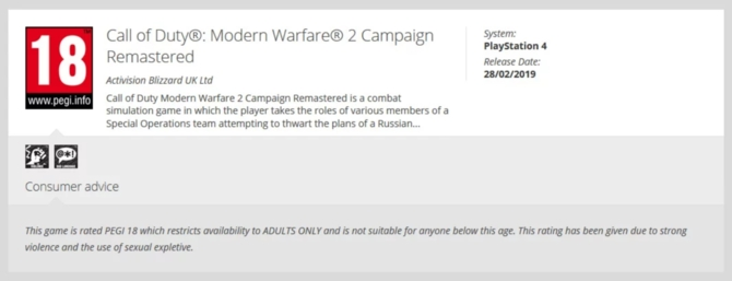 Będzie remaster gry Call of Duty: Modern Warfare 2? [1]