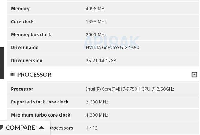 W bazie 3DMark odkryto laptopa z GTX 1650 oraz Core i7-9750H [2]