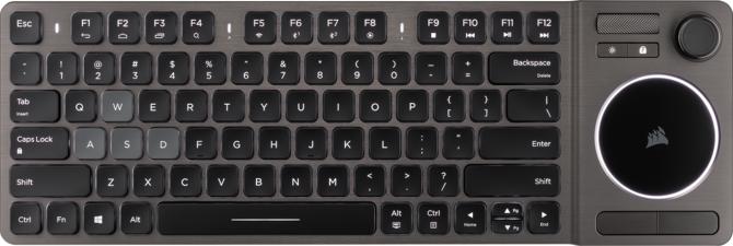 Corsair K83 Wireless - Salonowa klawiatura z grzybkiem i gładzikiem [1]