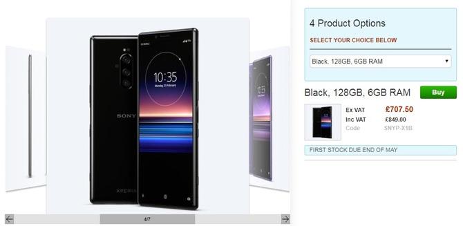 Sony Xperia 1 pojawi się w maju i będzie bardzo droga [2]
