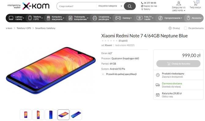 Znamy polską cenę Redmi Note 7. Niby tanio, ale czy na pewno? [2]