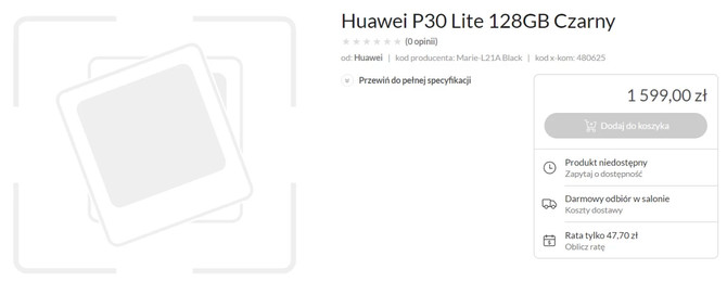 Huawei P30 i P30 Lite - znamy specyfikację i cenę smartfonów [5]