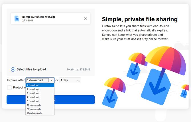 Poznajcie Firefox Send, nowy serwis wymiany plików z limitami [1]