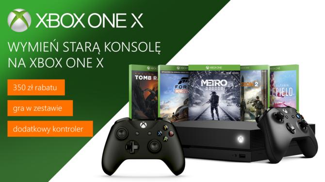 Xbox One X: wymień starą konsolę i odbierz zniżkę na gry i pada [1]