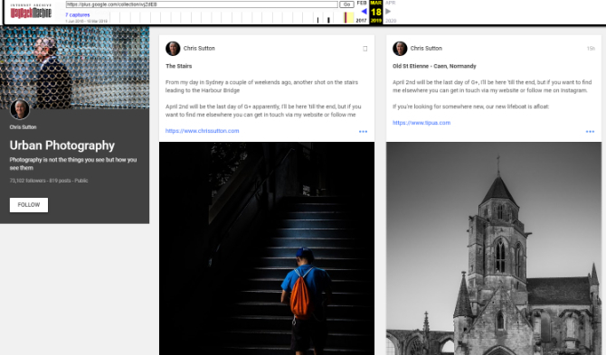 Archiwum Internetu zachowa publiczne posty z serwisu Google+ [4]