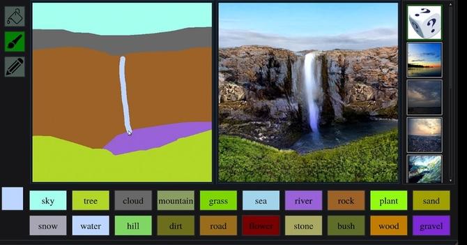 NVIDIA GauGAN zamienia proste szkice w przepiękne pejzaże [1]