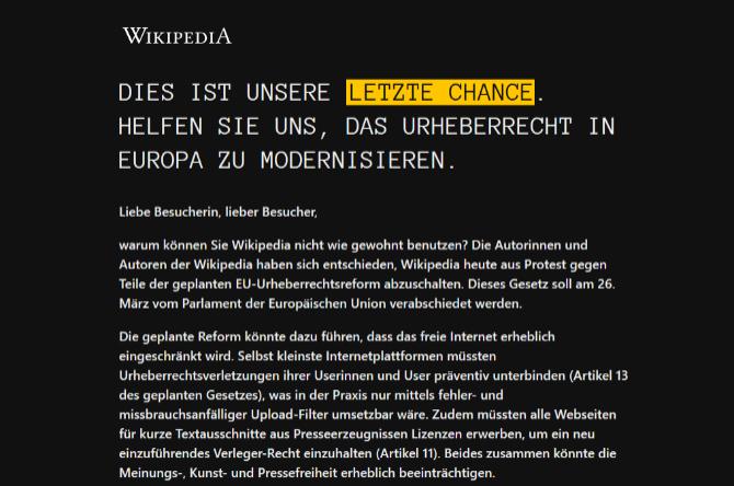PornHub, Reddit i Wikipedia przeciwko ustawie Parlamentu UE [2]