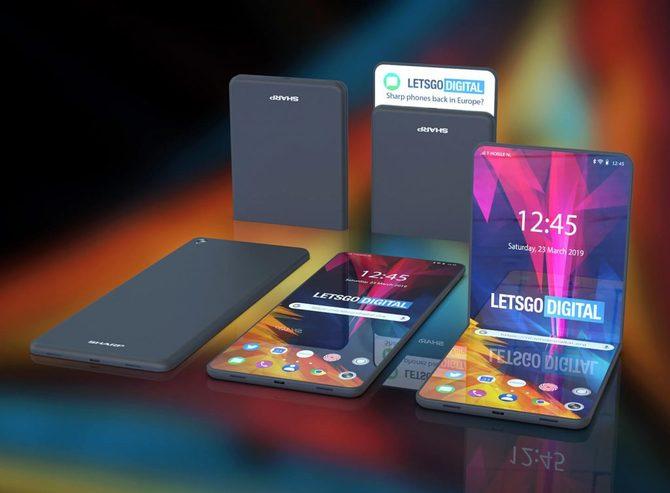 Sharp: Patent na zupełnie bezramkowy, składany smartfon [1]