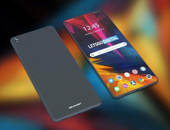 Sharp: Patent na zupełnie bezramkowy, składany smartfon [2]