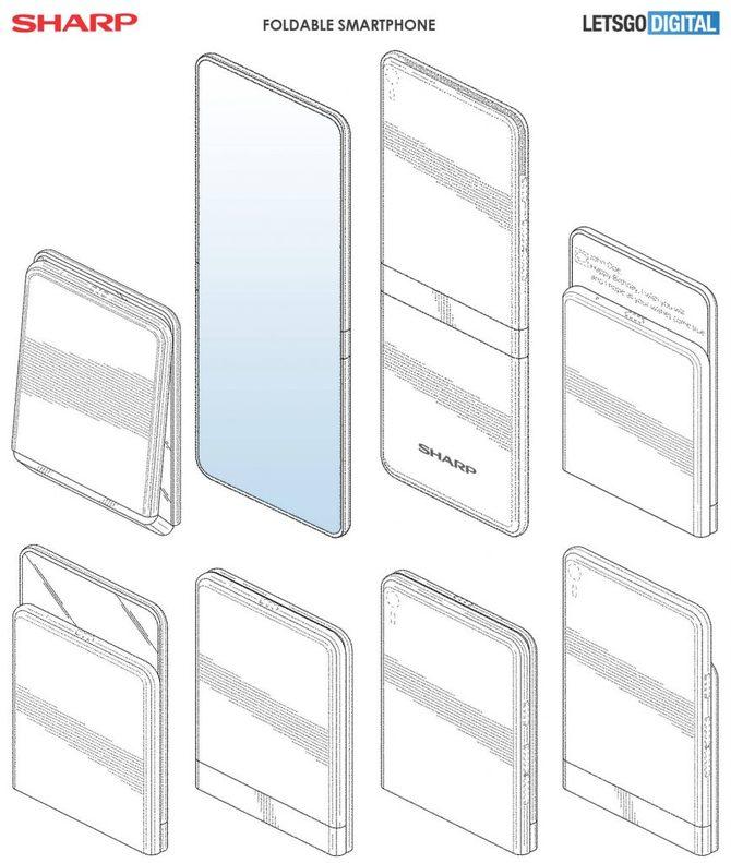 Sharp: Patent na zupełnie bezramkowy, składany smartfon [3]