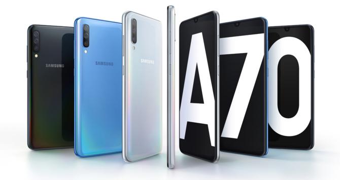Samsung Galaxy A70: Bateria 4500 mAh z Super Fast Charging [1]
