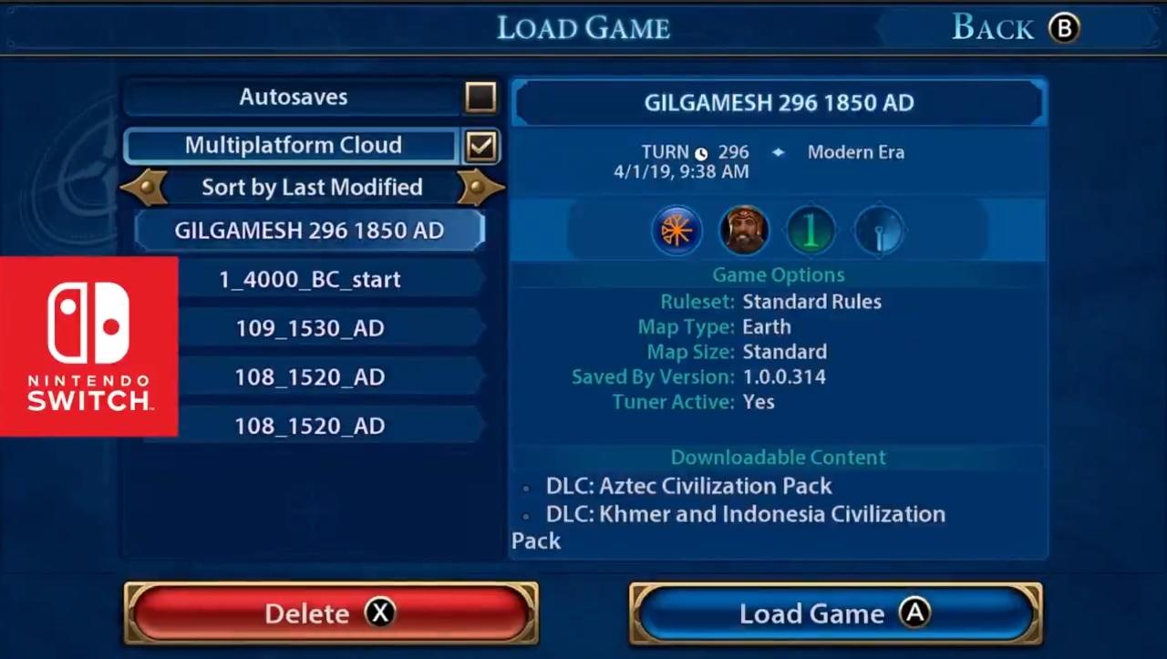 Civilization VI pozwoli używać save'ów pomiędzy PC a Switch