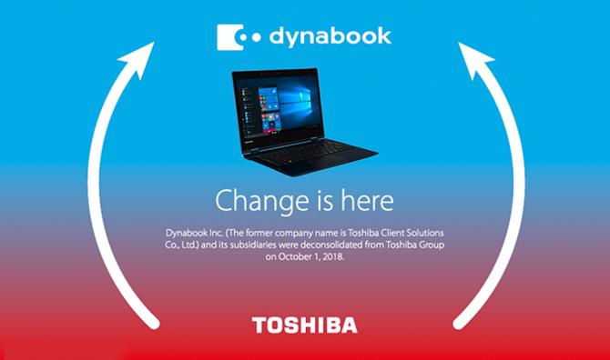 Laptopy Toshiba będą od teraz sprzedawane pod nazwą Dynabook [2]
